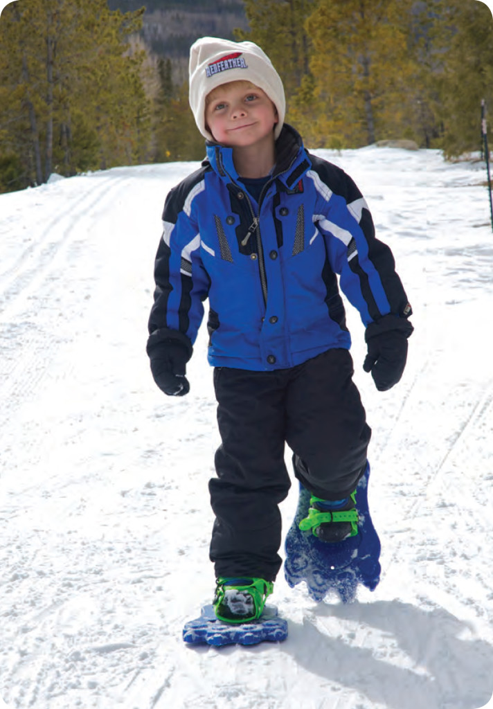 Snowshoeing is the perfect winter activity for families!